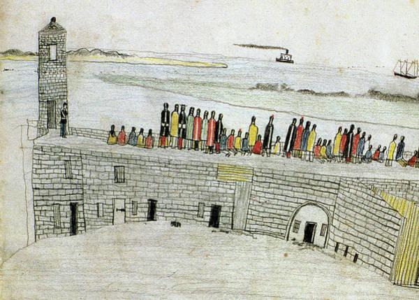 Atlantic Ocean Drawing - Native Americans Prison, 1875 by Granger