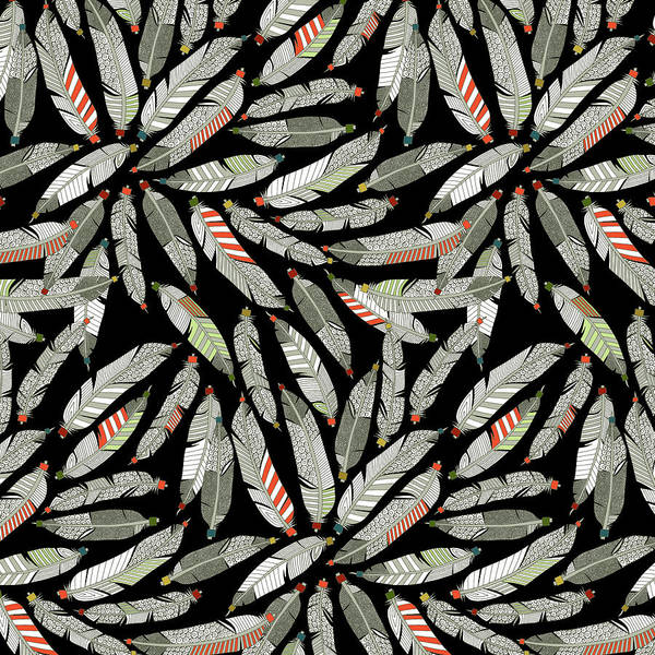 Wall Art - Painting - Native Feathers by MGL Meiklejohn Graphics Licensing