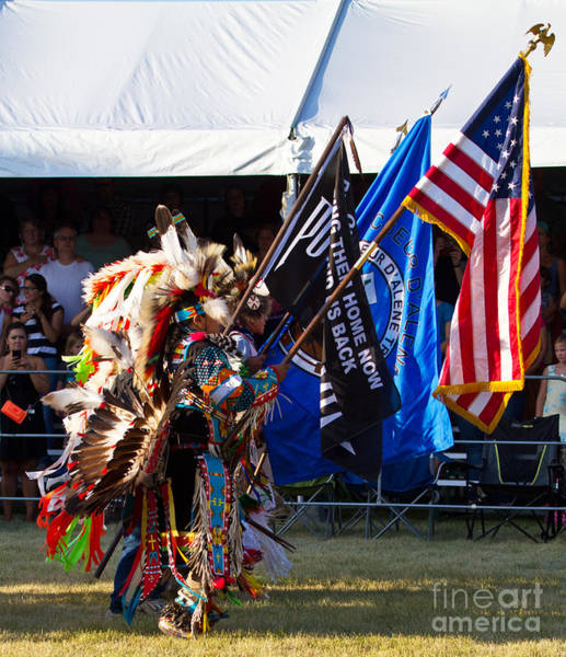 Wall Art - Photograph - Native Flag Ceremony by Scarlett Images Photography