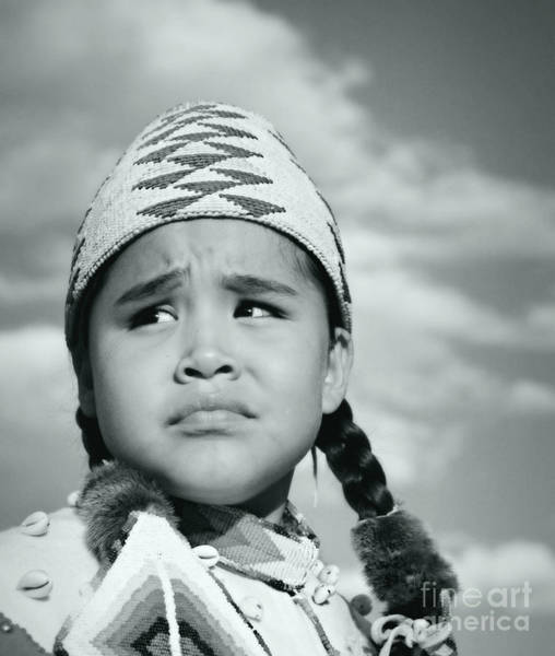 Wall Art - Photograph - Native Girl In Silver Screen by Scarlett Images Photography