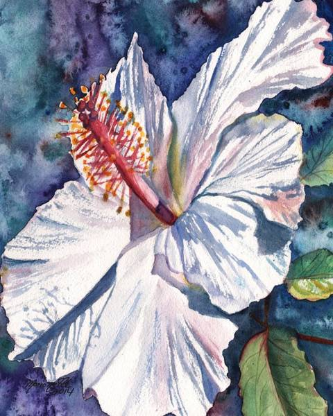 Hibiscus Flower Painting - Native Hawaiian Hibiscus by Marionette Taboniar