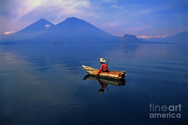Photograph - Native Mayan Fisherman On Lake Atitlan by Thomas R Fletcher
