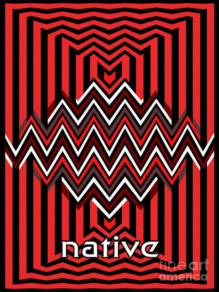 Native American Blanket Painting - Native by Methune Hively