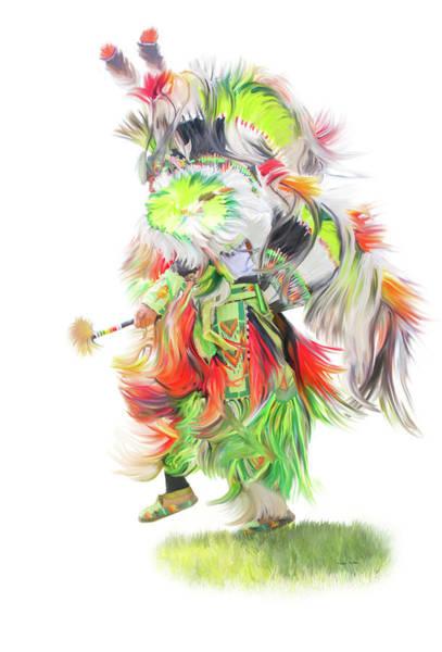 Culture Painting - Native Pow Wow Dance by Ramona Murdock