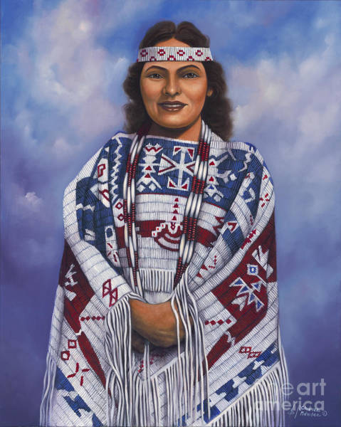 Lakota Painting - Native Queen by Ricardo Chavez-Mendez