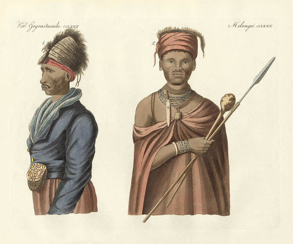 Kora Wall Art - Drawing - Natives Of South Africa by Splendid Art Prints
