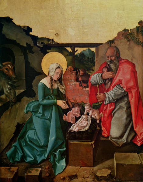 Madonna Photograph - Nativity, 1510 Tempera On Panel by Hans Baldung Grien