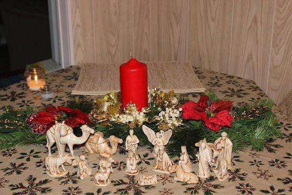 Photograph - Nativity Scene by John Mathews