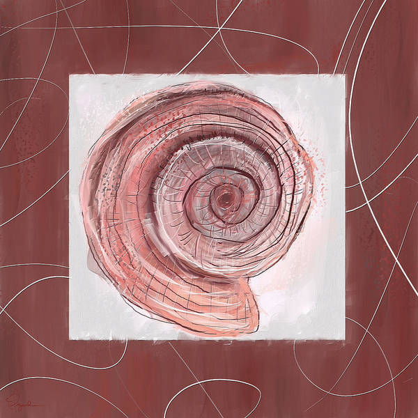 Wall Art - Painting - Natural Allure- Marsala Pantone 18-1438 by Lourry Legarde