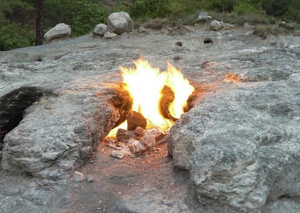 Metamorphosis Photograph - Natural Methane Flame by Maria Platt-evans