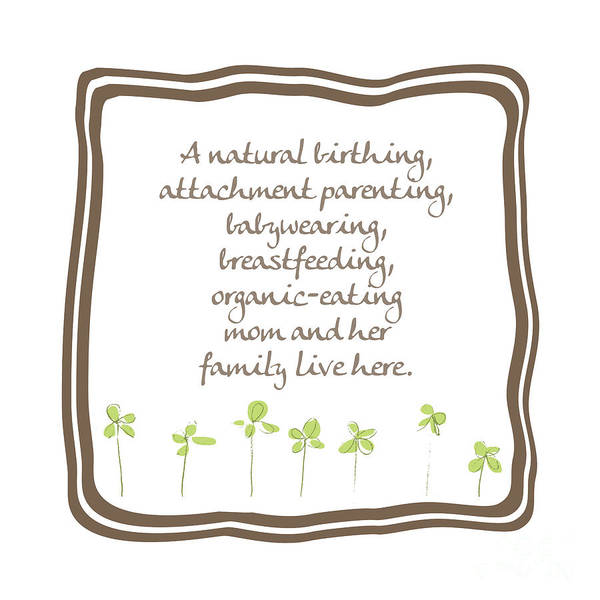 Parenthood Digital Art - Natural Momma by L Bee