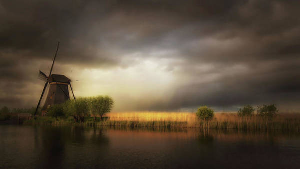 Windmills Photograph - Nature As A Painter by Saskia Dingemans