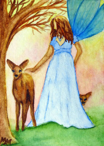 Painting - Nature Fairy by Monique Morin Matson