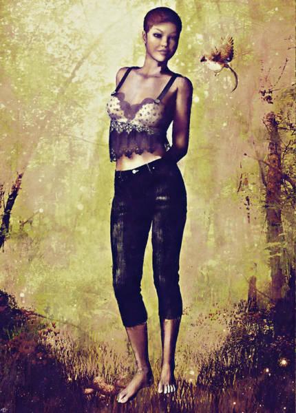 Painting - Nature Girl by Maynard Ellis
