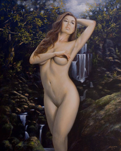 Painting - Nature Girl Vi by John Silver