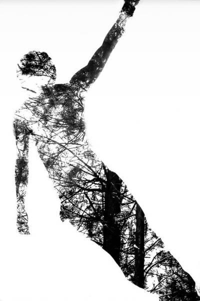 Silhouette Digital Art - Nature In A Mans Silhouette by Win-initiative