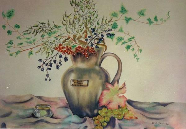 Painting - Nature Morte Aux Feuilles by Anne Dalton