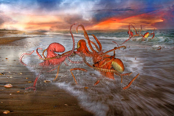 Sea Story Digital Art - Nature Of The Game by Betsy Knapp