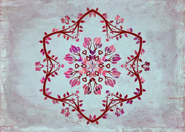 Symmetric Digital Art - Nature Vibe Mandala - S03t03b by Variance Collections