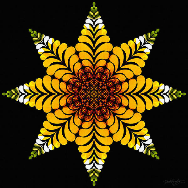 Digital Art - Nature's Mandala 07 by Derek Gedney