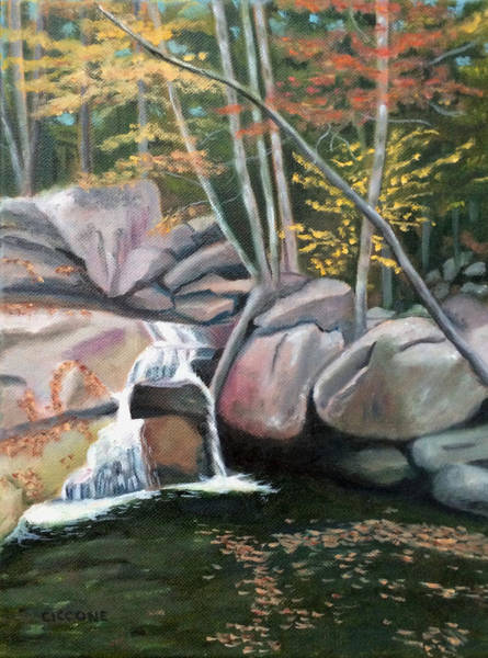 Painting - Nature's Rock Garden by Jill Ciccone Pike