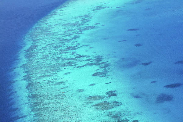 High Tide Photograph - Natures Shades Of Blue - Ocean Reef by Yuri