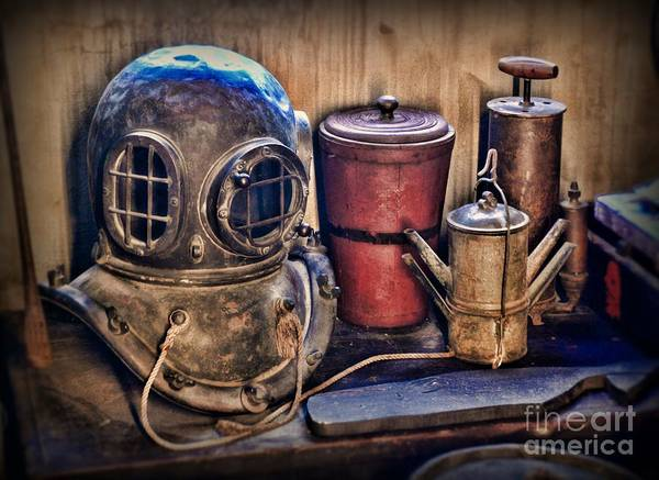 Navy Seal Photograph - Nautical - Antique Dive Helmet by Paul Ward
