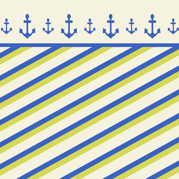 Mixed Media - Nautical Pattern by Christina Rollo