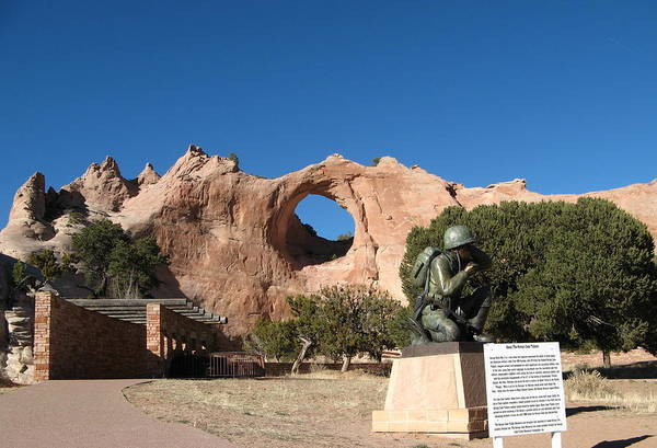Code Talkers Photograph - Navajo Code Talker Monument by Rollin Jewett