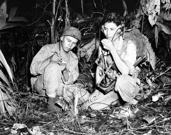 Code Talkers Photograph - Navajo Code Talkers by Us Navy