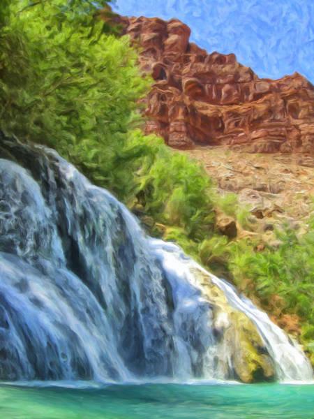 Navaho Wall Art - Painting - Navajo Falls by Dominic Piperata
