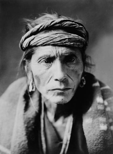 Headband Photograph - Navajo Man Circa 1905 by Aged Pixel