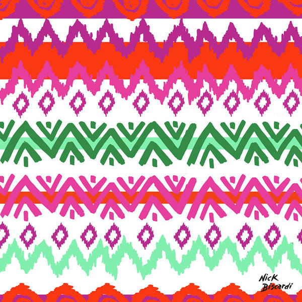 Boho Wall Art - Digital Art - Navajo Mission Round by Nicholas Biscardi