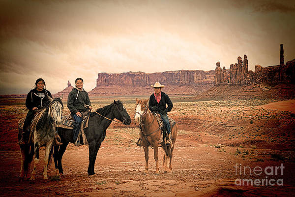Photograph - Navajo Riders by Jim Garrison