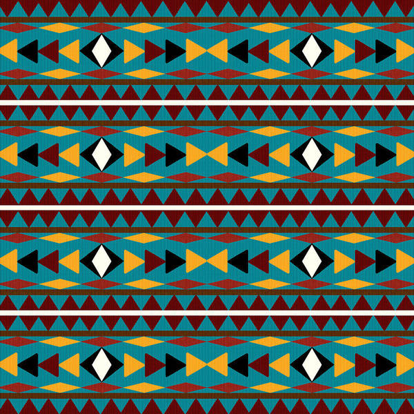 Native Mixed Media - Navajo Teal Pattern by Christina Rollo