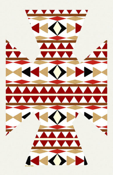 Pattern Mixed Media - Navajo White Pattern Art by Christina Rollo