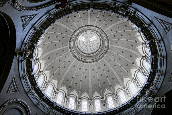State College Photograph - Naval Academy Chapel Dome Interior by Olivier Le Queinec