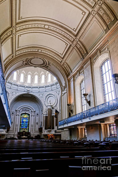 Wall Art - Photograph - Naval Academy Chapel Interior by Olivier Le Queinec