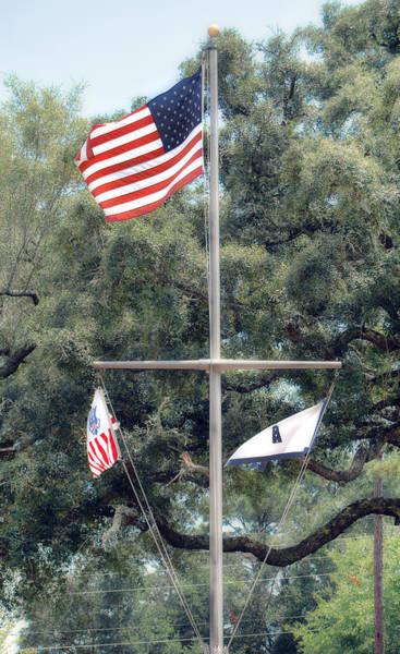 Photograph - Naval Base Flags by Judy Hall-Folde