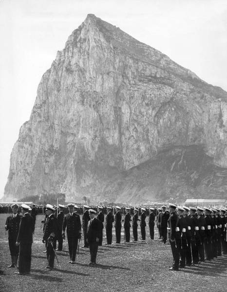 Honour Wall Art - Photograph - Naval Review At Gibraltar by Underwood Archives