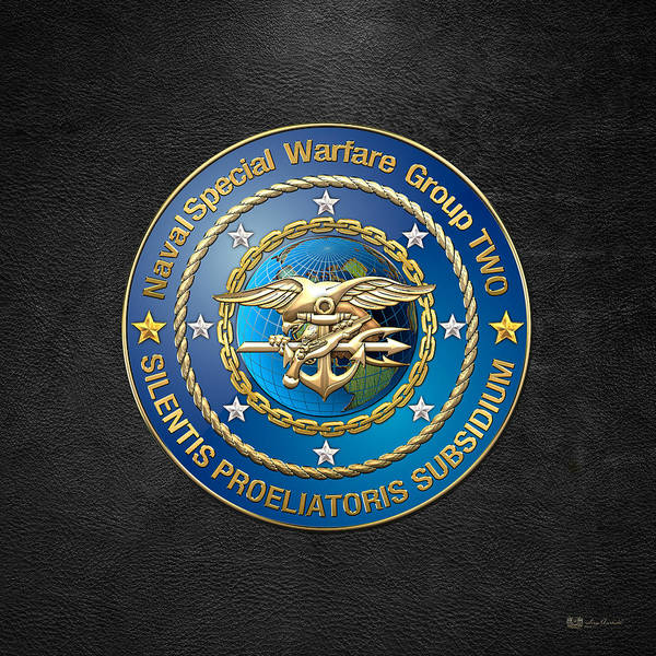 Digital Art - Naval Special Warfare Group Two - N S W G-2 - On Black by Serge Averbukh
