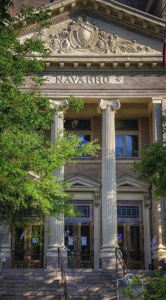 Photograph - Navarro County Courthouse by Joan Carroll