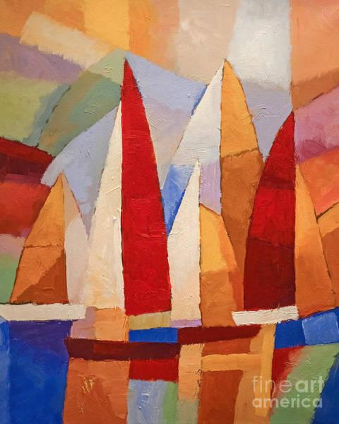 Painting - Navigare by Lutz Baar