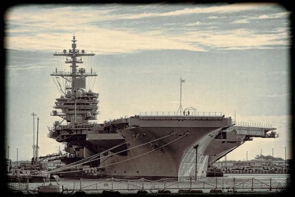 Norfolk Naval Station Wall Art - Photograph - Navy Aircraft Carrier Norfolk Virginia Usa by Kathy Clark