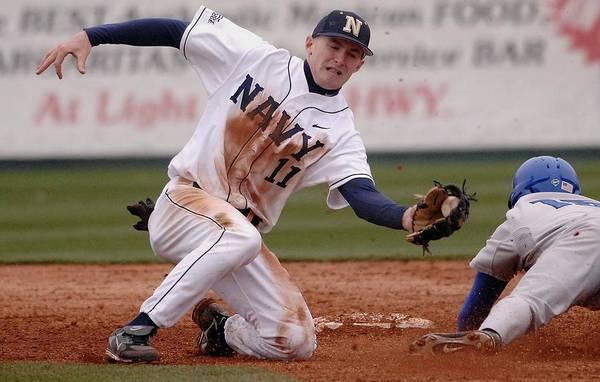 College Baseball Photograph - Navy Baseball by Mountain Dreams
