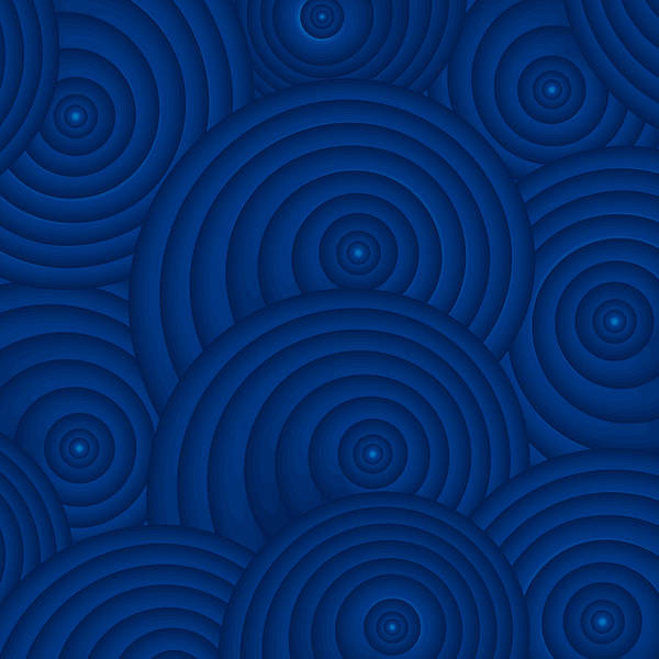Wall Art - Painting - Navy Blue Abstract by Frank Tschakert