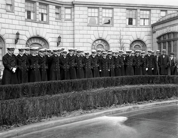 Photograph - Navy Football Team Arrives by Underwood Archives
