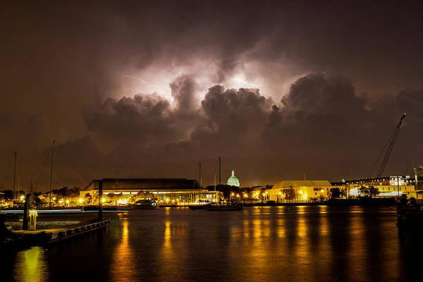 Wall Art - Photograph - Navy Lightning by Jennifer Casey