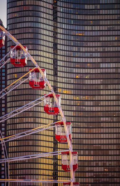 Ferris Wheel Photograph - Navy Pier Wheel Chicago by Steve Gadomski