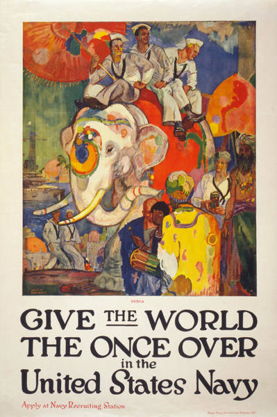 Painting - Navy Poster, 1919 by Granger